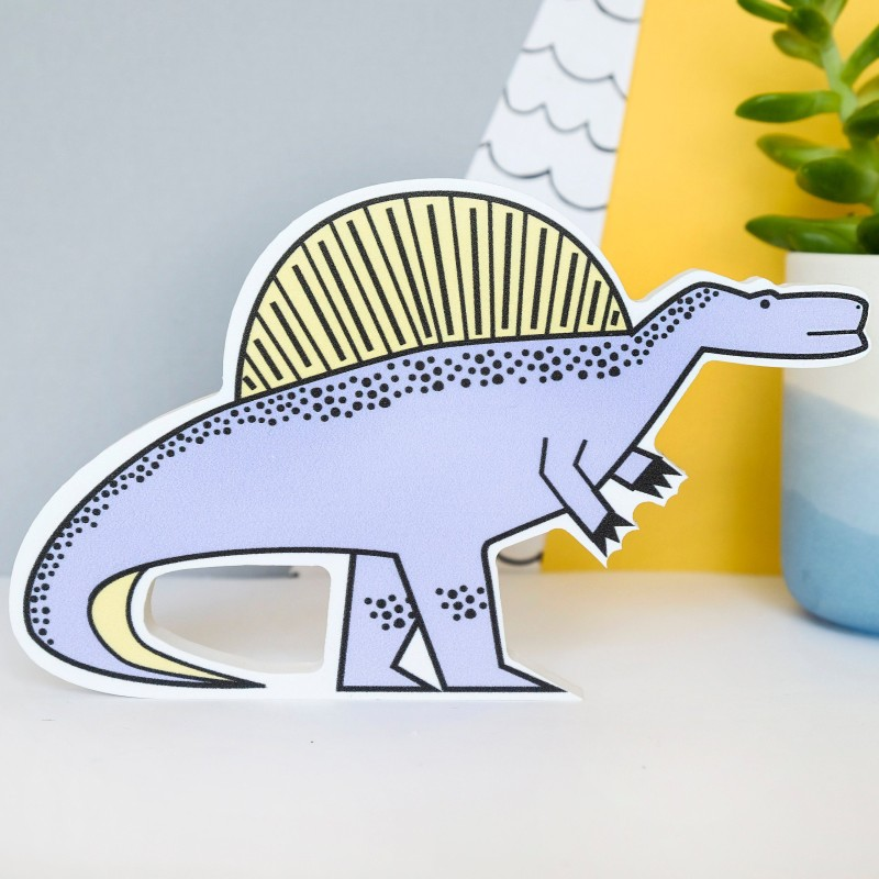 Spinosaurus Dinosaur Decoration by Bowler Bear Designs