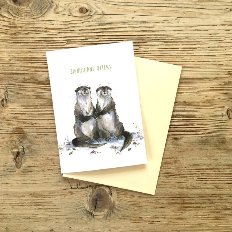 NEW Significant otter Valentines Card Card by Snowtap