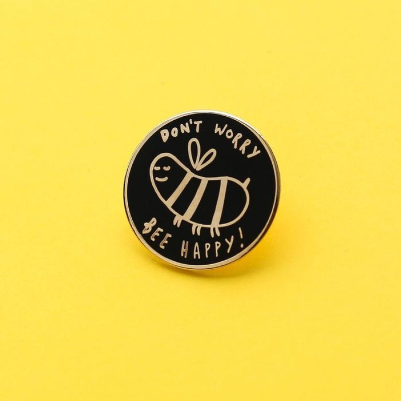 Bee Happy Enamel Pin by Old English Co.