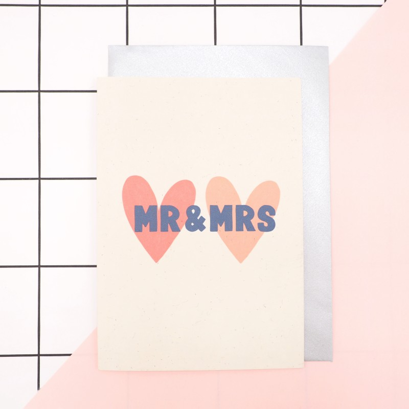 Mr & Mrs Wedding Card by Harriet Emily