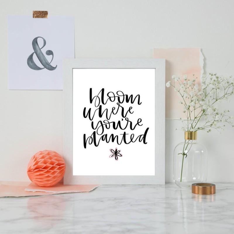 Bloom Print by AV Typography