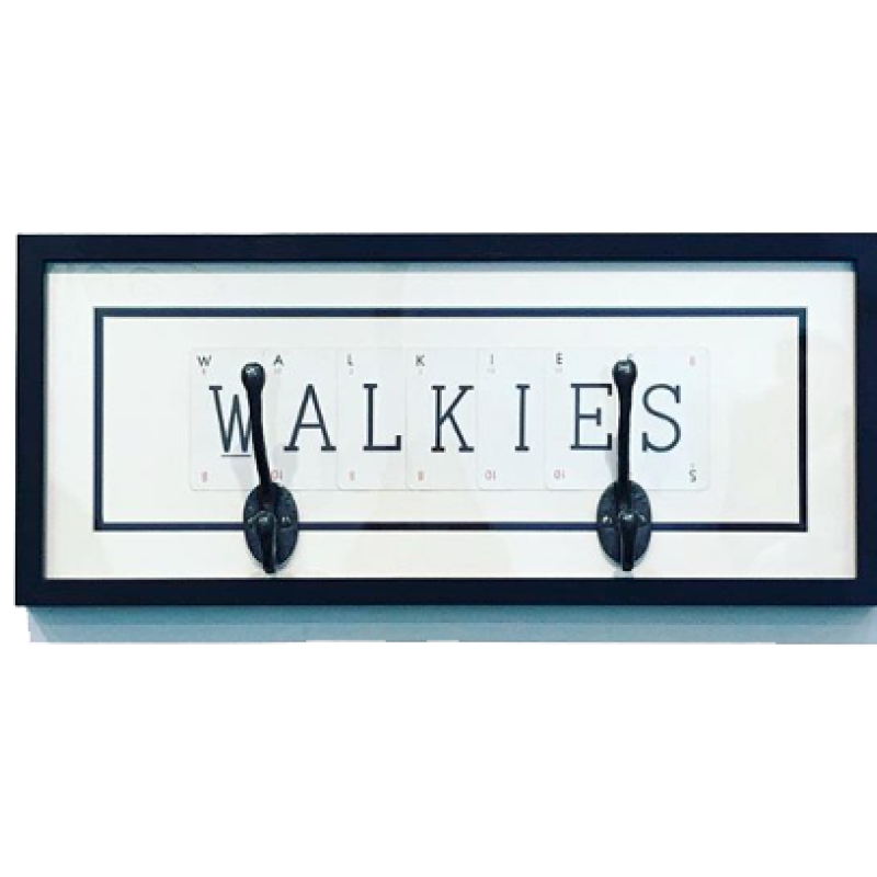'Walkies' frame with hooks by Vintage Playing Cards