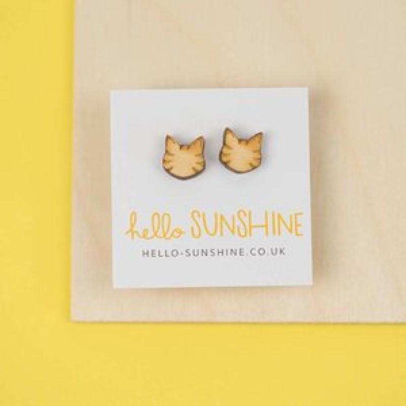 LITTLE TABBY CAT EARRINGS by Hello Sunshine