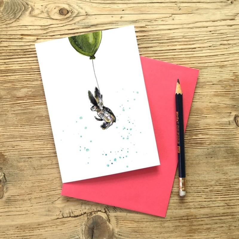 Turtle Take Off Birthday Card by Snowtap