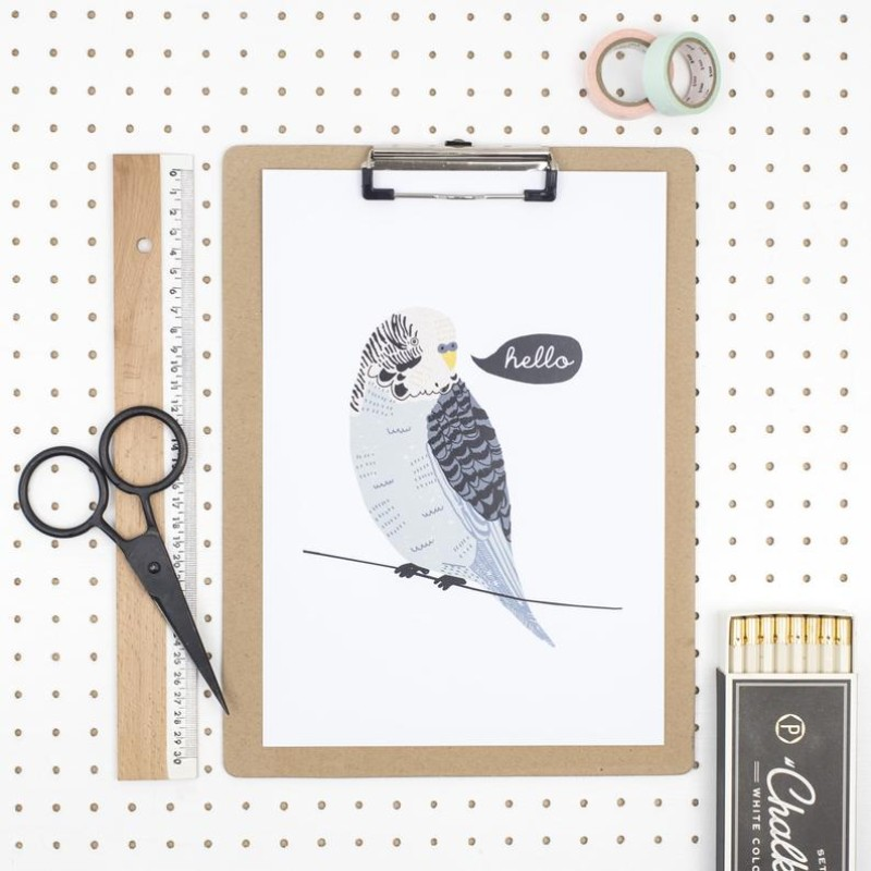 Budgie Print by Dainty Forest