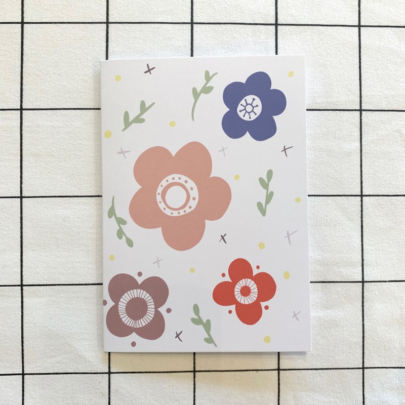 Floral Blank Card by Harriet Emily