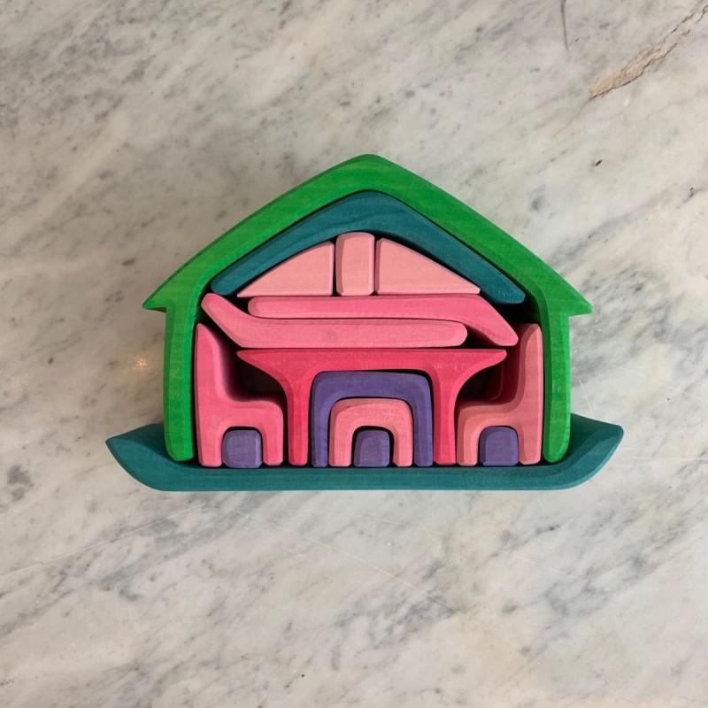 Stable dukkehus grønn