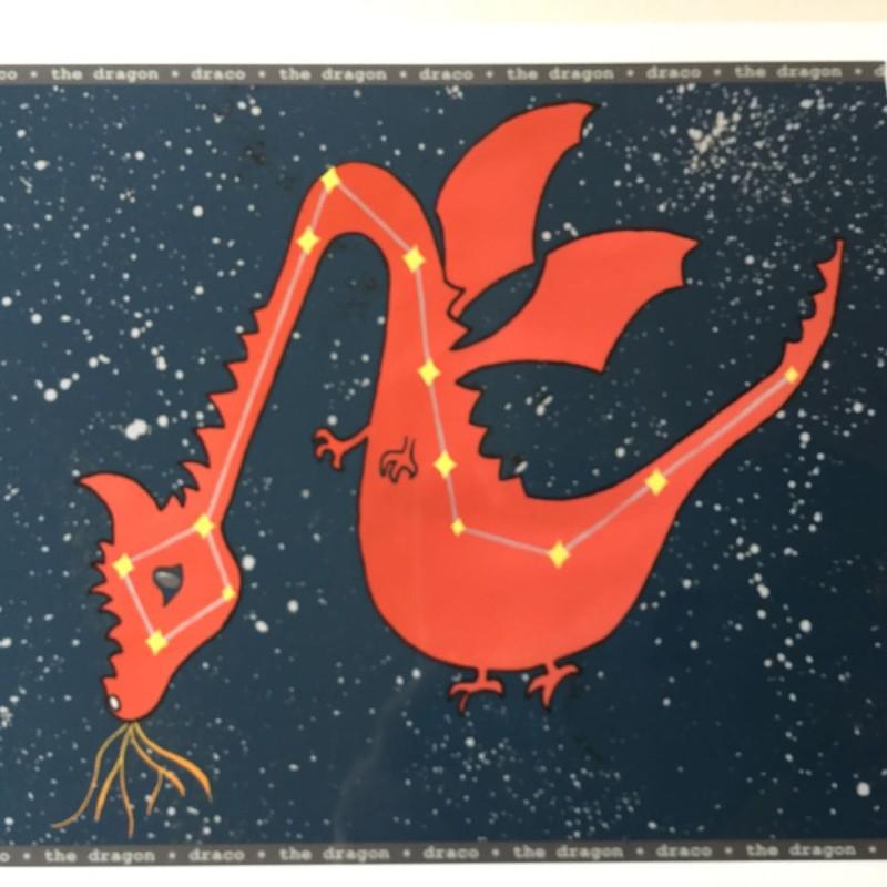 LLS A4 Starry night Dragon Print