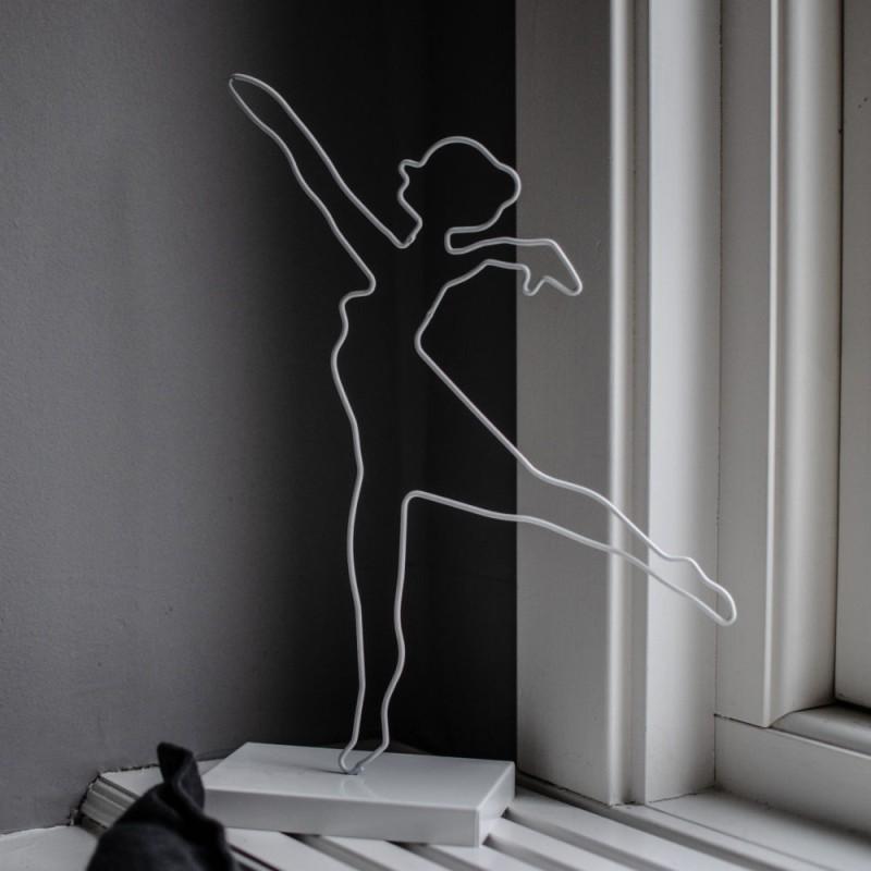 Ballerina stål vit
