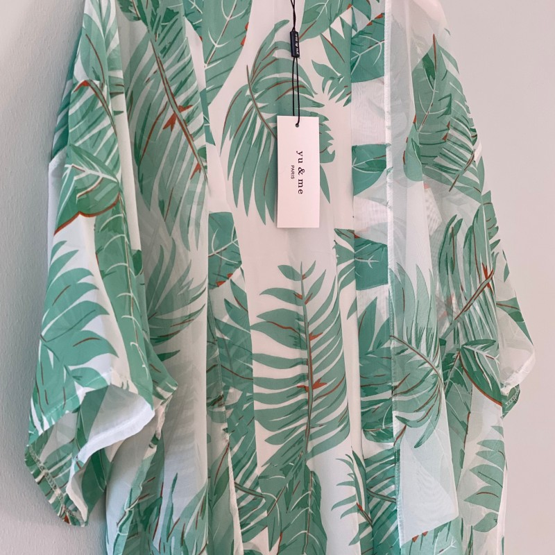Kimono gröna blad