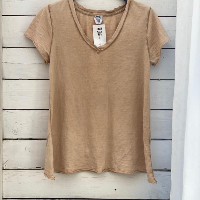 Stajl Agenturer T-shirt Camel