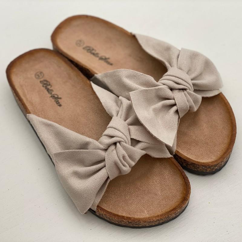 Sandaler rosett beige