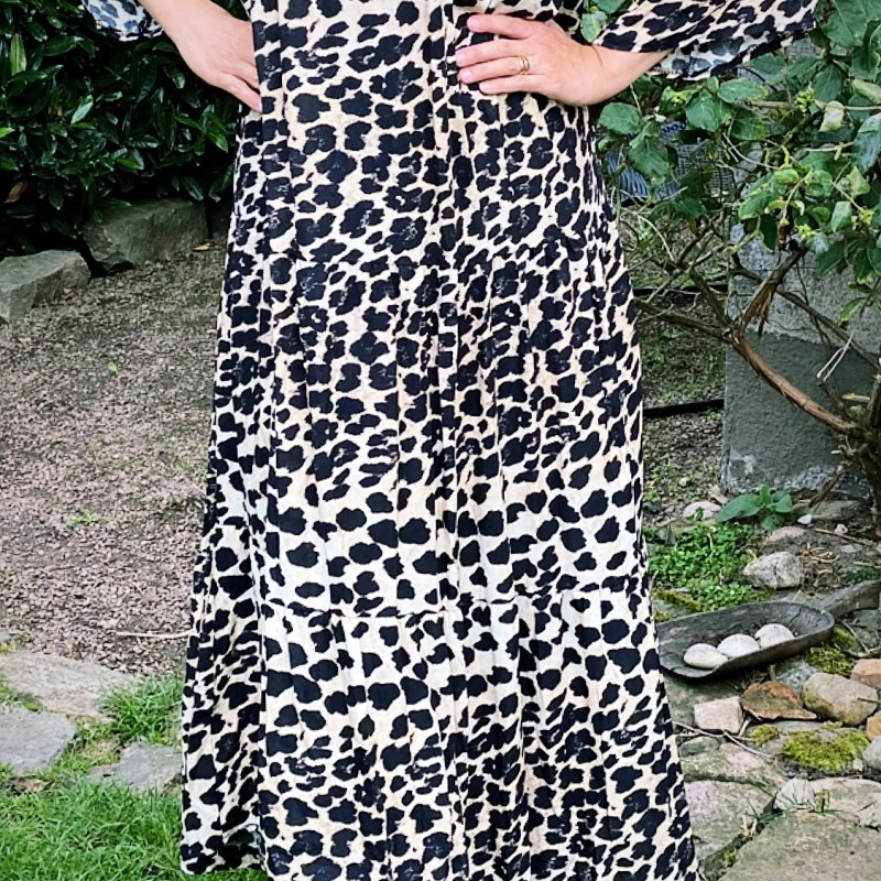 d'NADA leomönstrad klänning