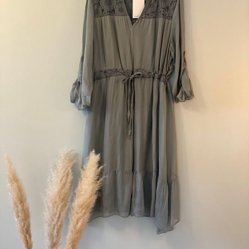 d'NADA klänning med spets grön