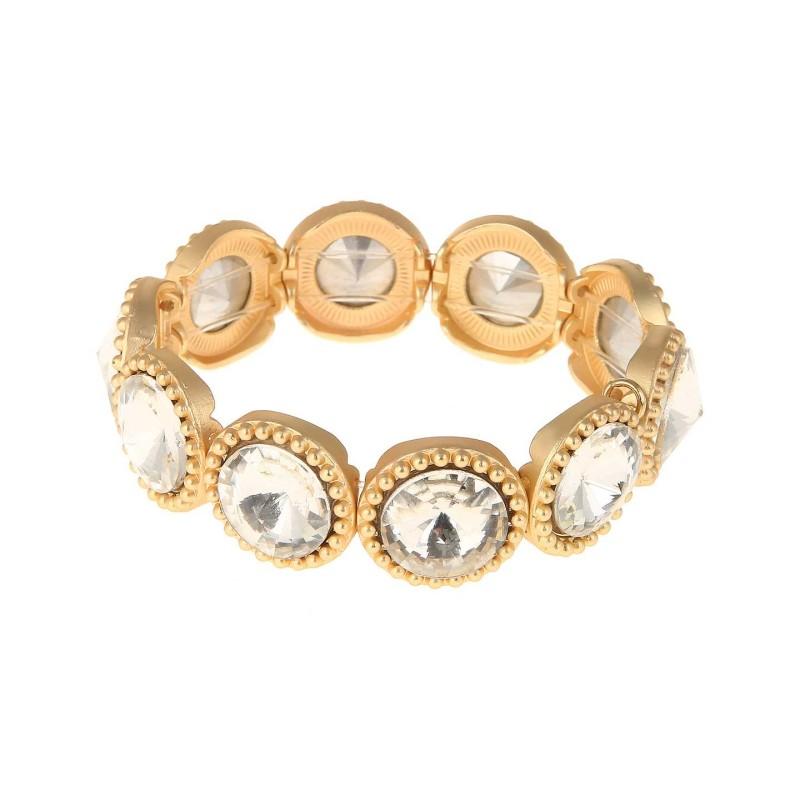 Armband guld med stenar