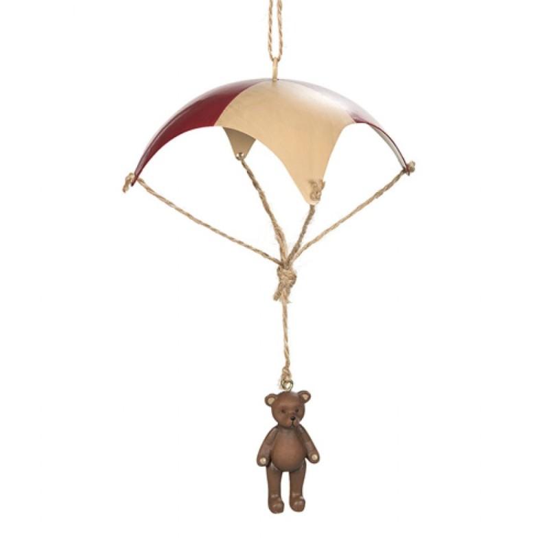 Julgransdekoration Nallebjörn i fallskärm