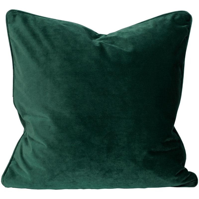 Grönt kuddfodral sammet