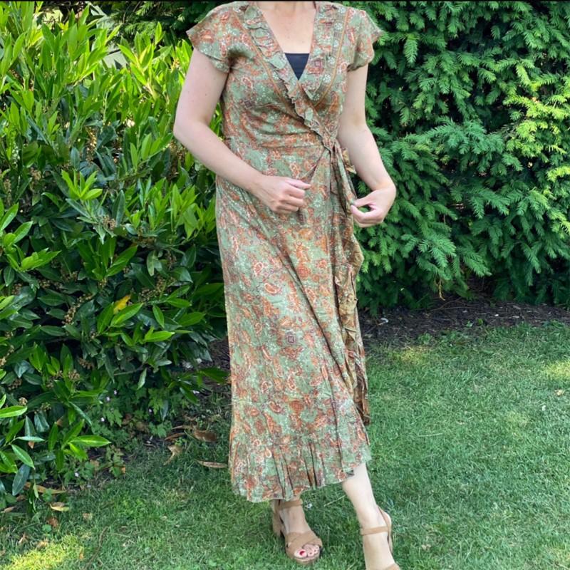 Omlottklänning Bali kaki/rost-Stajl