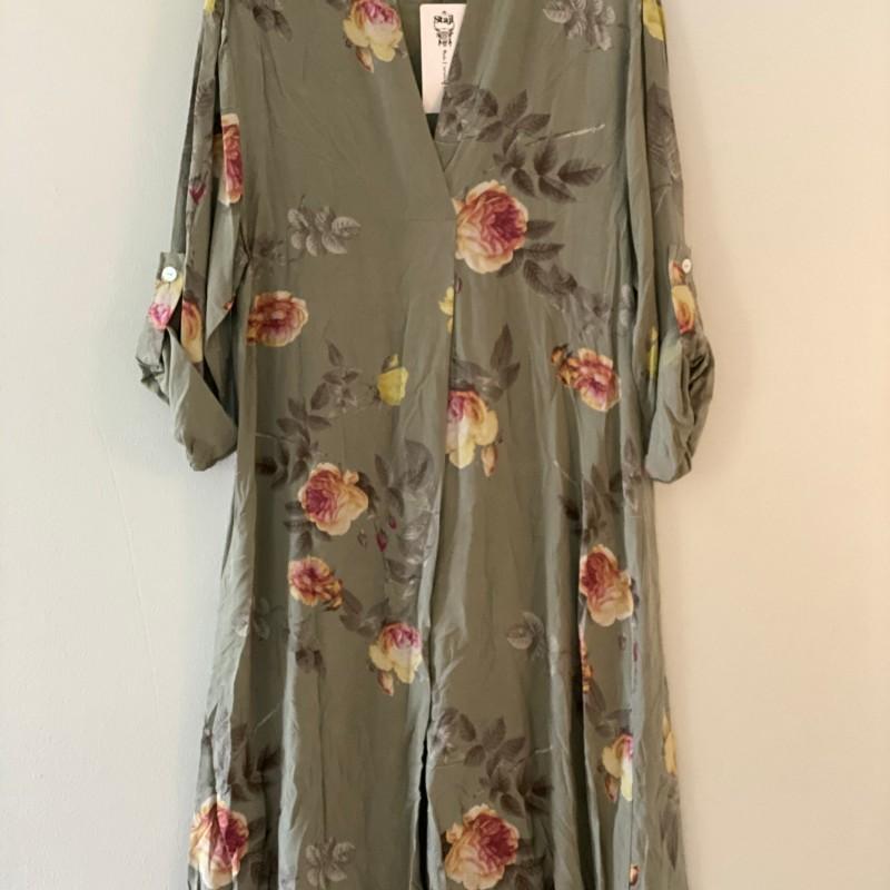 Tunika blommig grön- Stajl