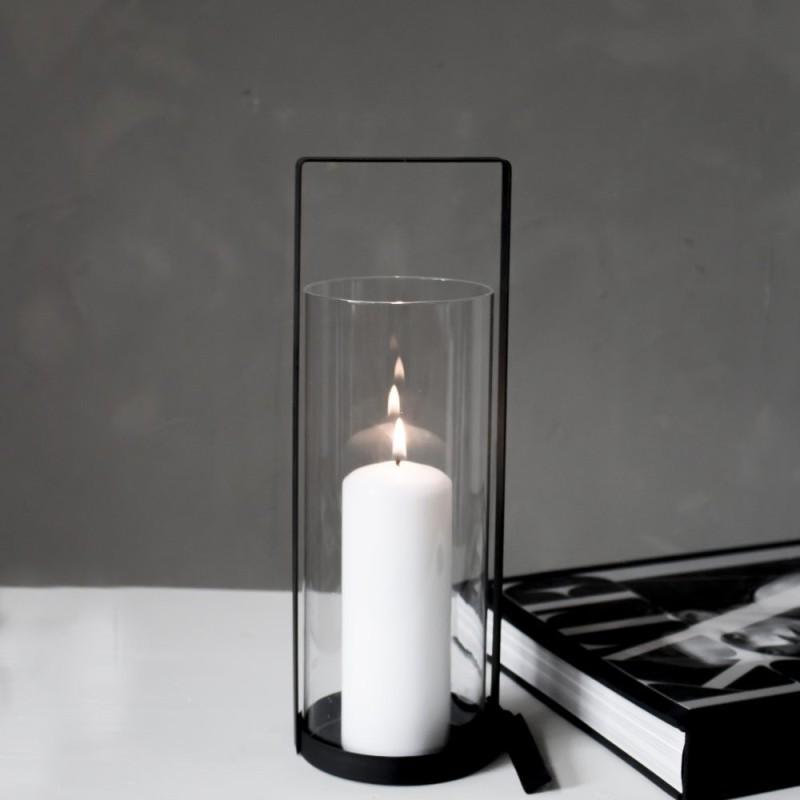 Kvarnvik liten svart ljuslykta- Storefactory