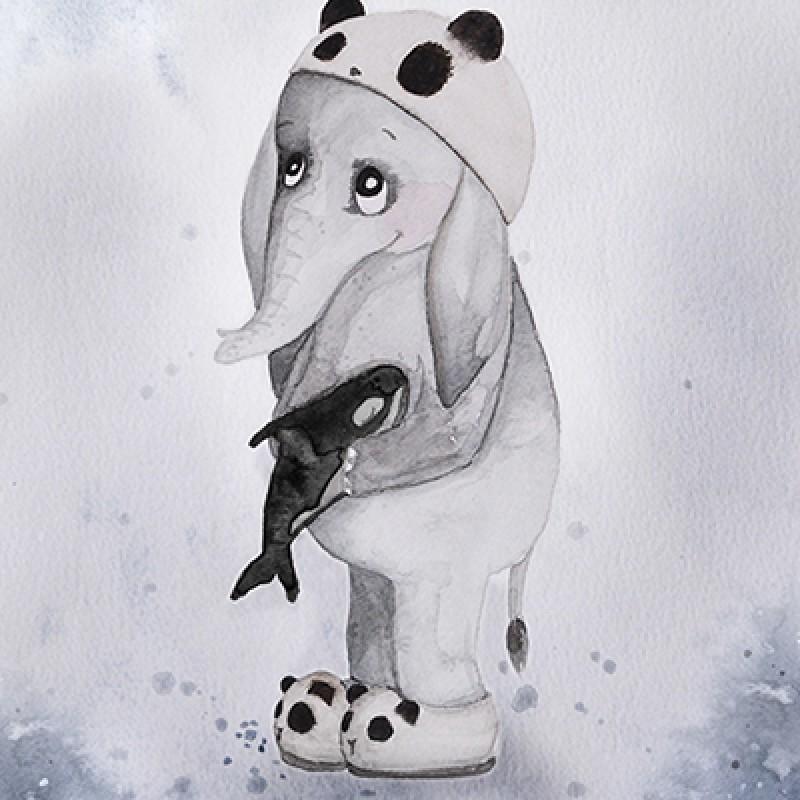 Poster Elefanten Elias