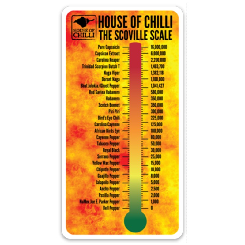 Scoville Scale Magnet - HOUSE OF CHILLI LIMITED