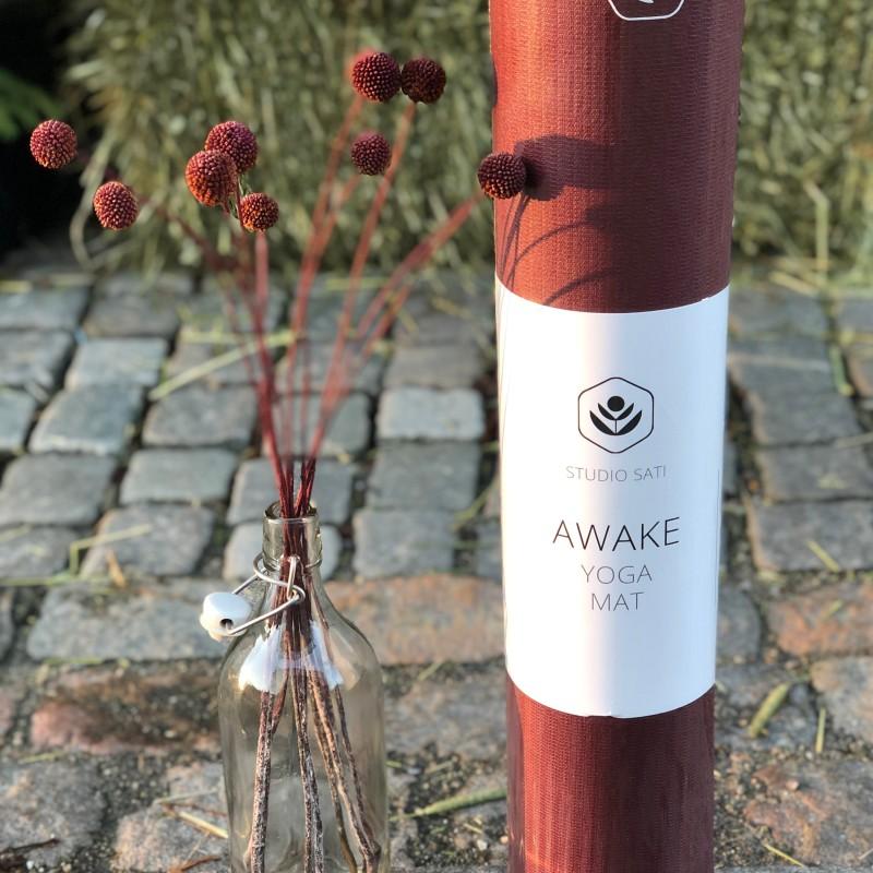 Yogamatte Awake 4mm Rød