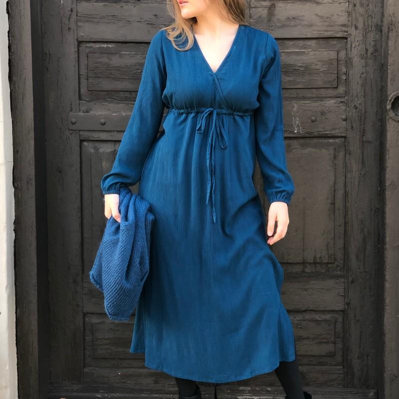 13-0520 Martha kjole Majolica-blå