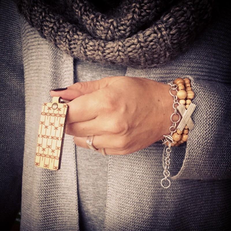 LEDKRYSS nyckelring i läder