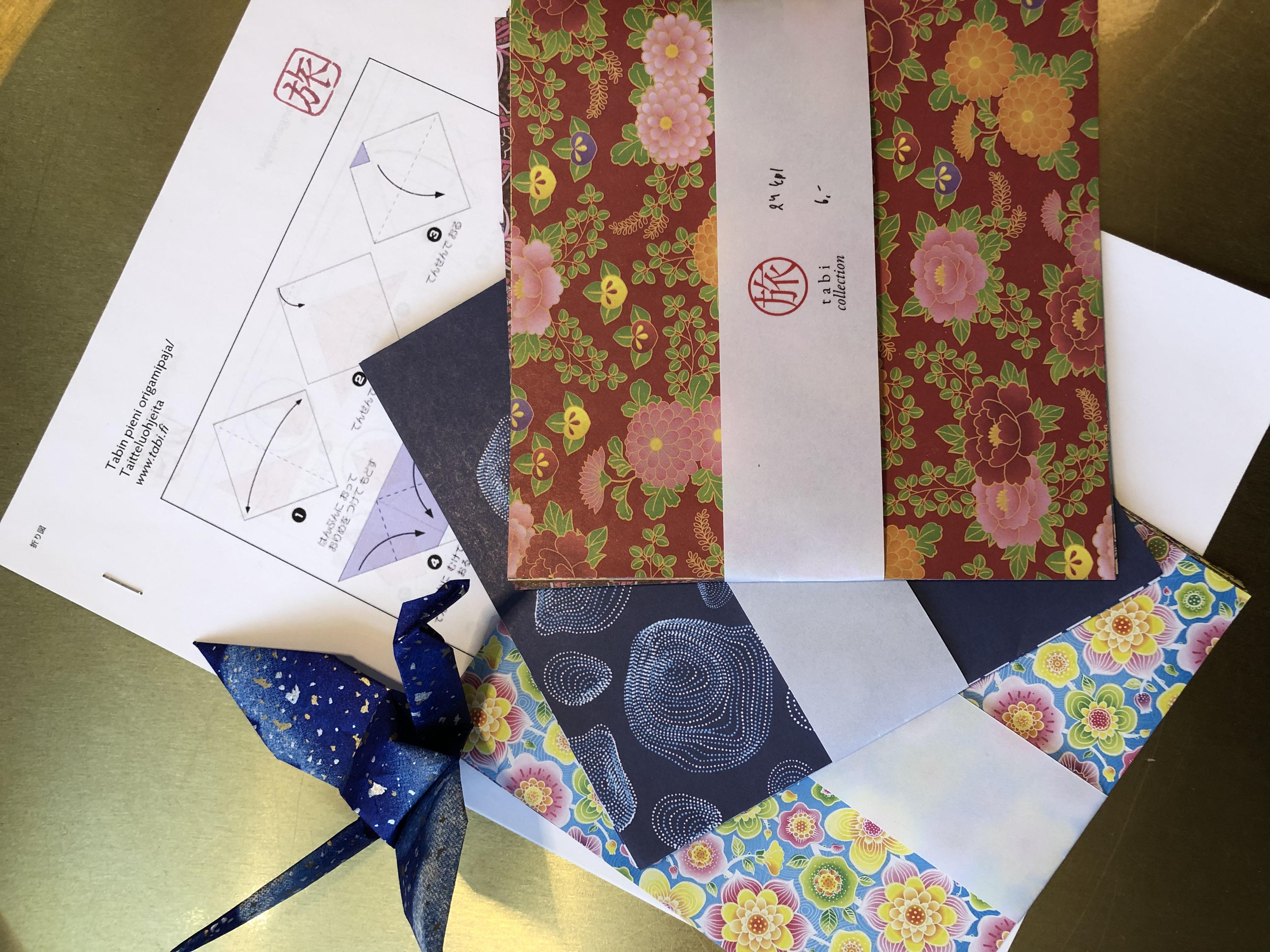 Origamipaperi ja ohje