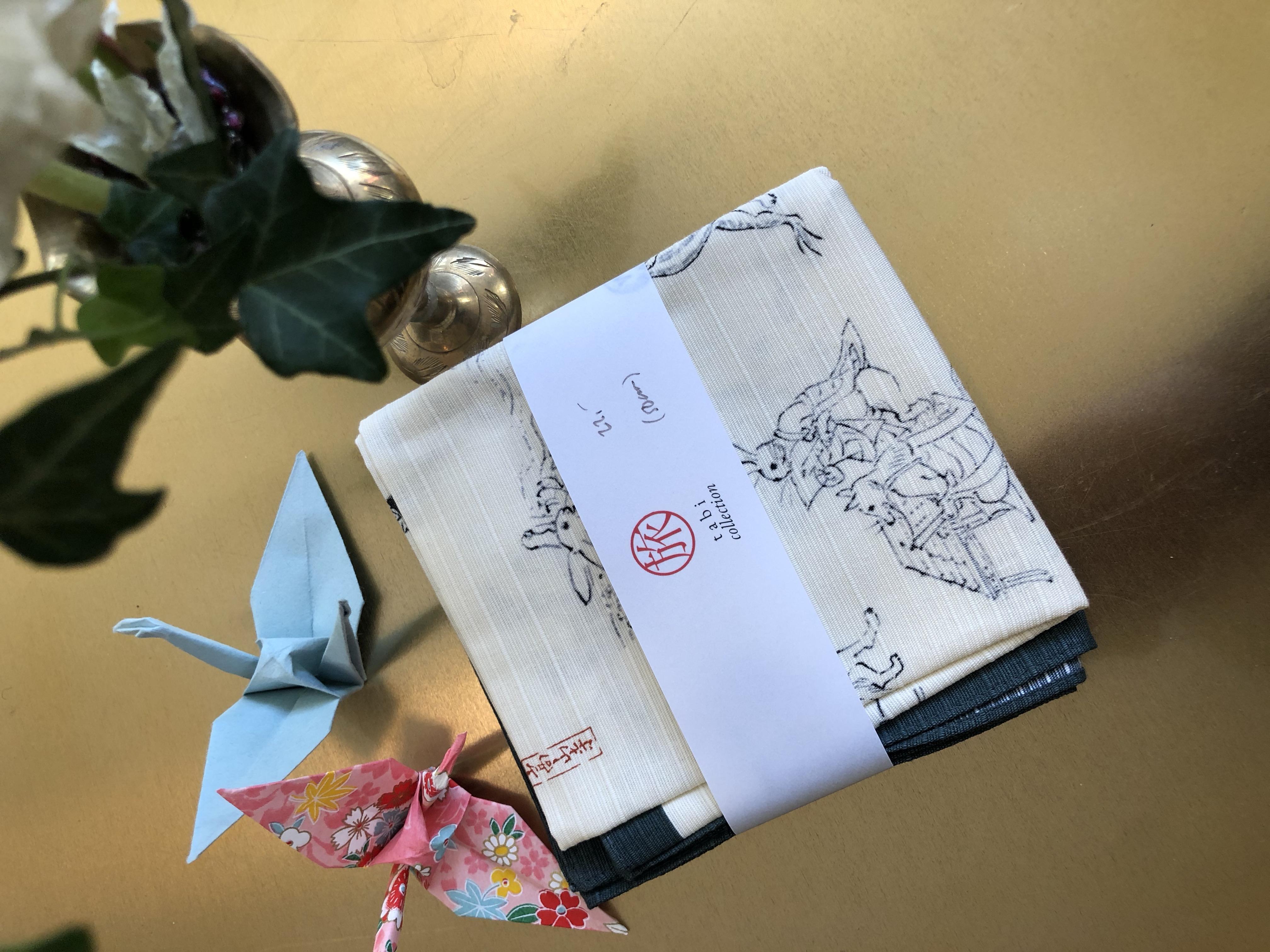 Choju-giga eläinkuvioinen furoshiki