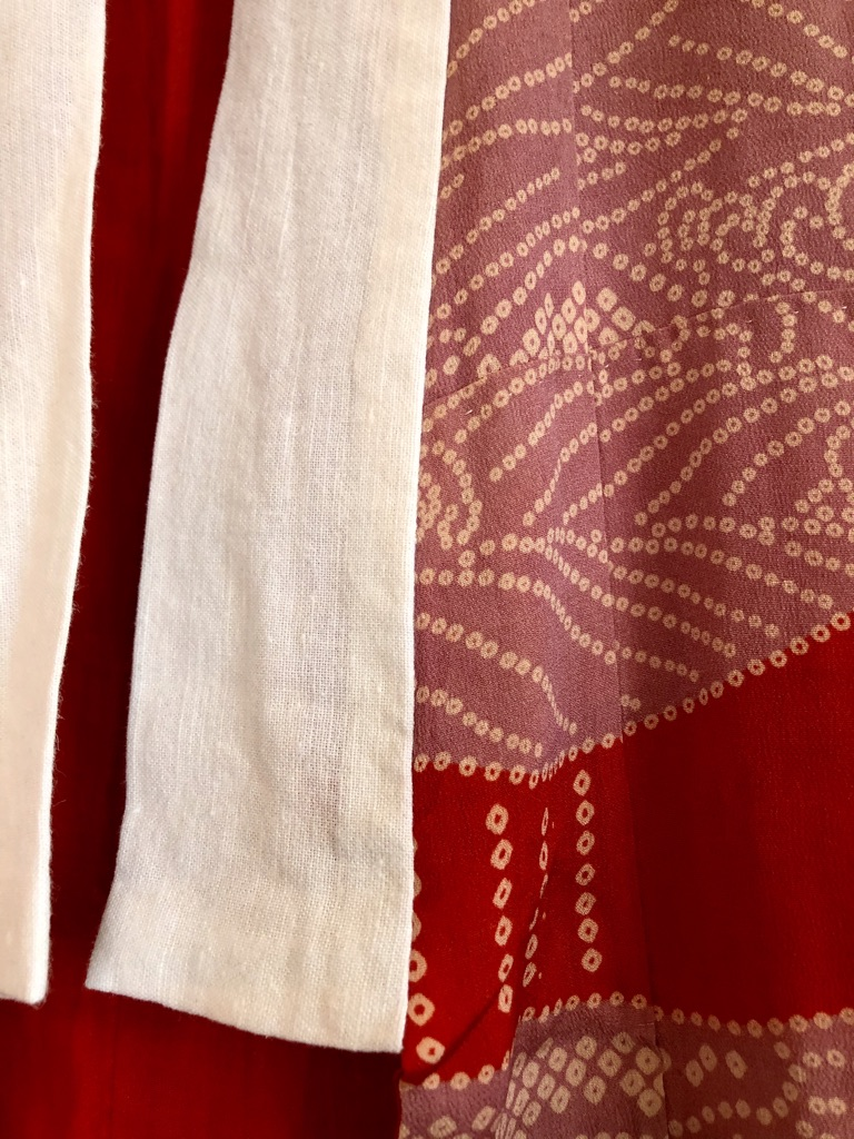 Puna-liila vintage kimono