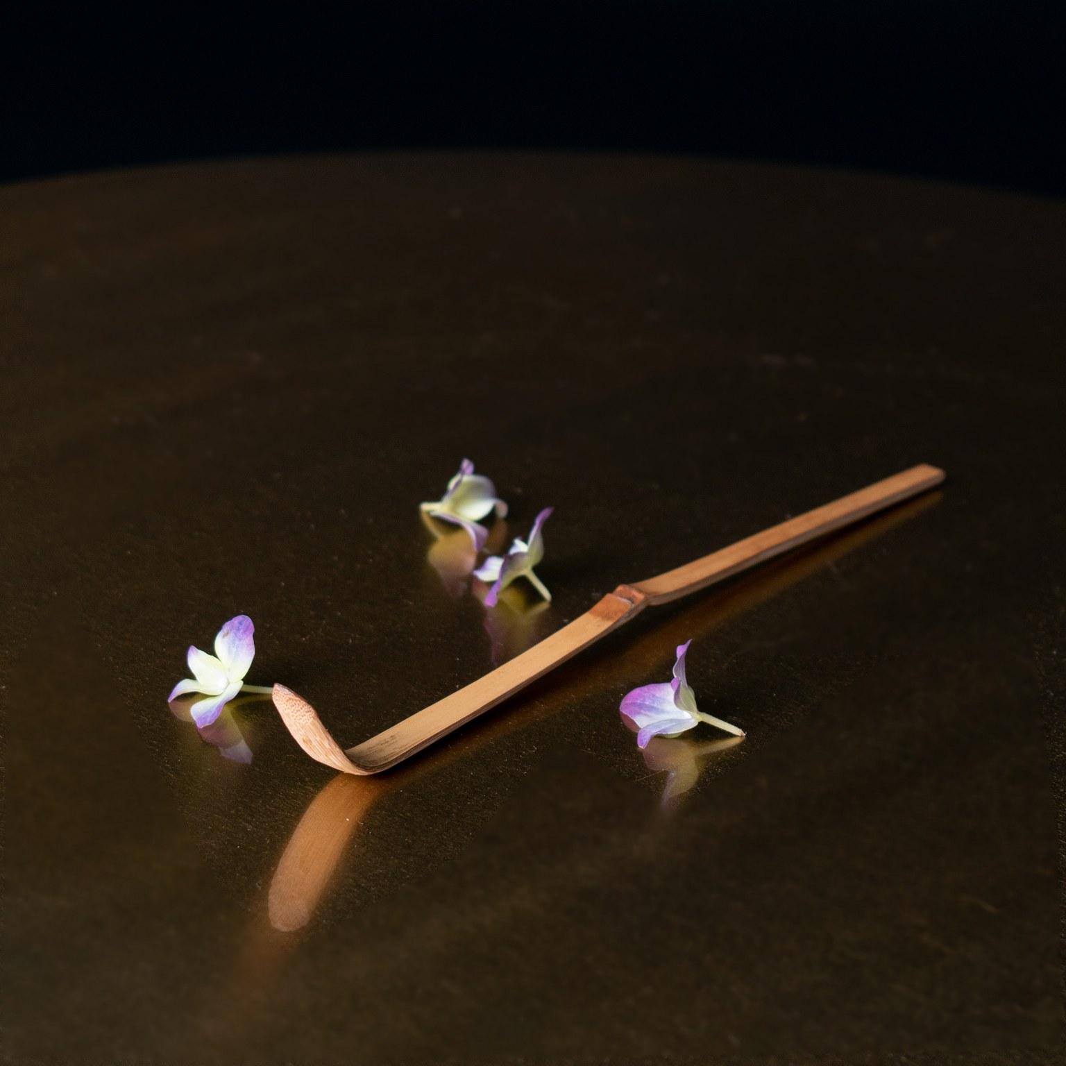 Bambuinen matchalusikka chashaku