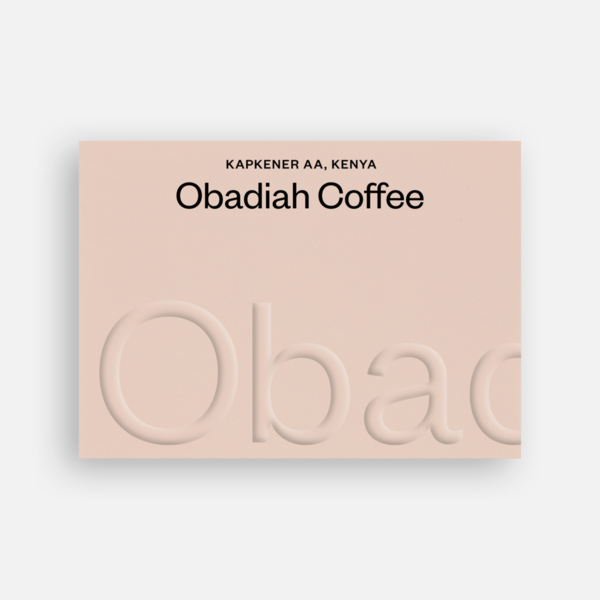 Kapekener AA Kenia - Obadiah Coffee | 250g