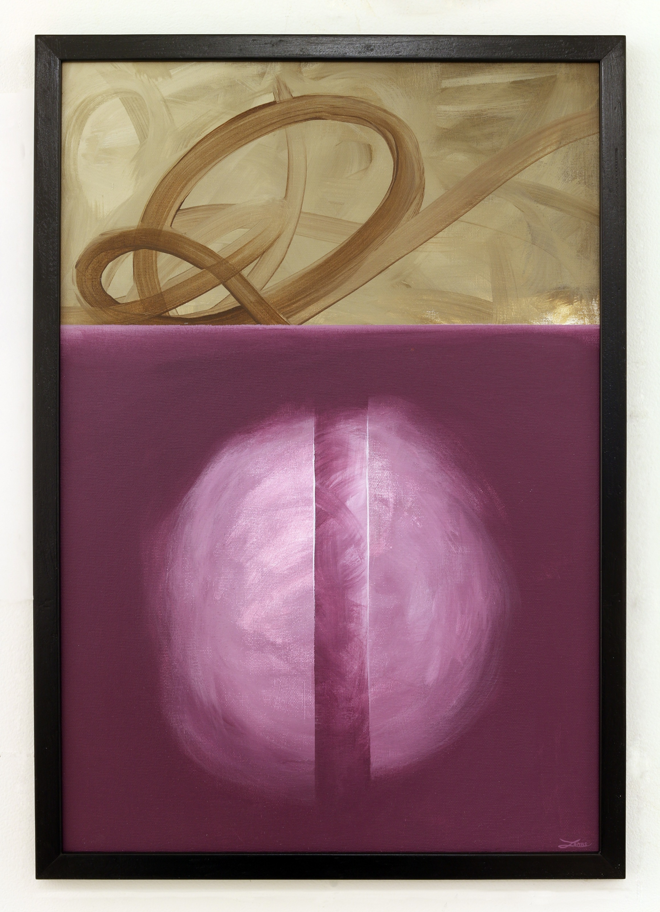 """""""ingen titel""""  akryl på duk av Jonas Brodin. 31x45 cm (lila). AAF"""