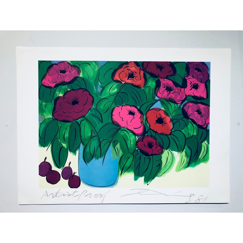 """Flowers"" Serigraph by Walasse Ting. 75 x 55 cm"