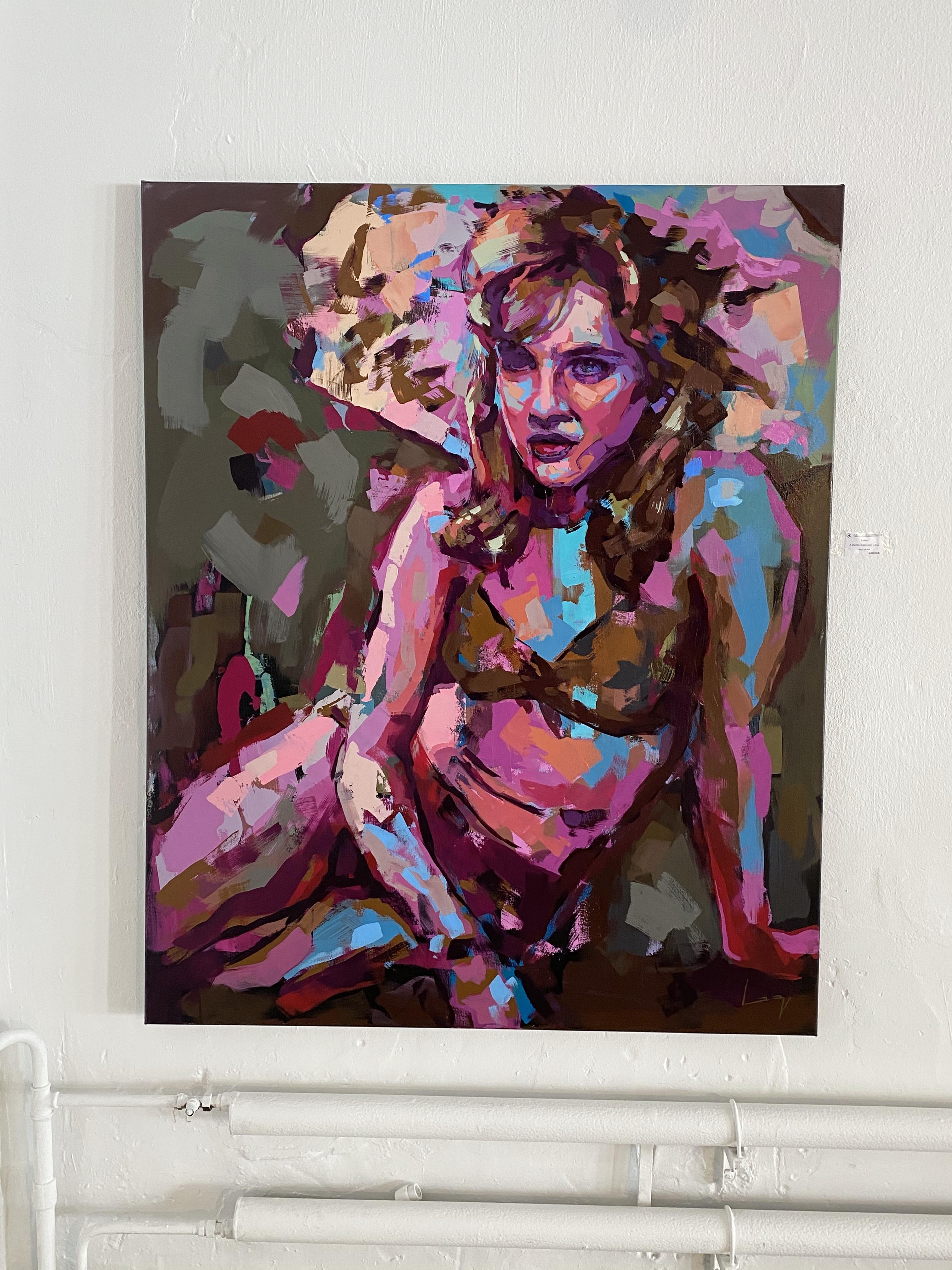 """""""Lolita"""" Akryl på duk av Alberto Ramirez LEG 160x130cm"""