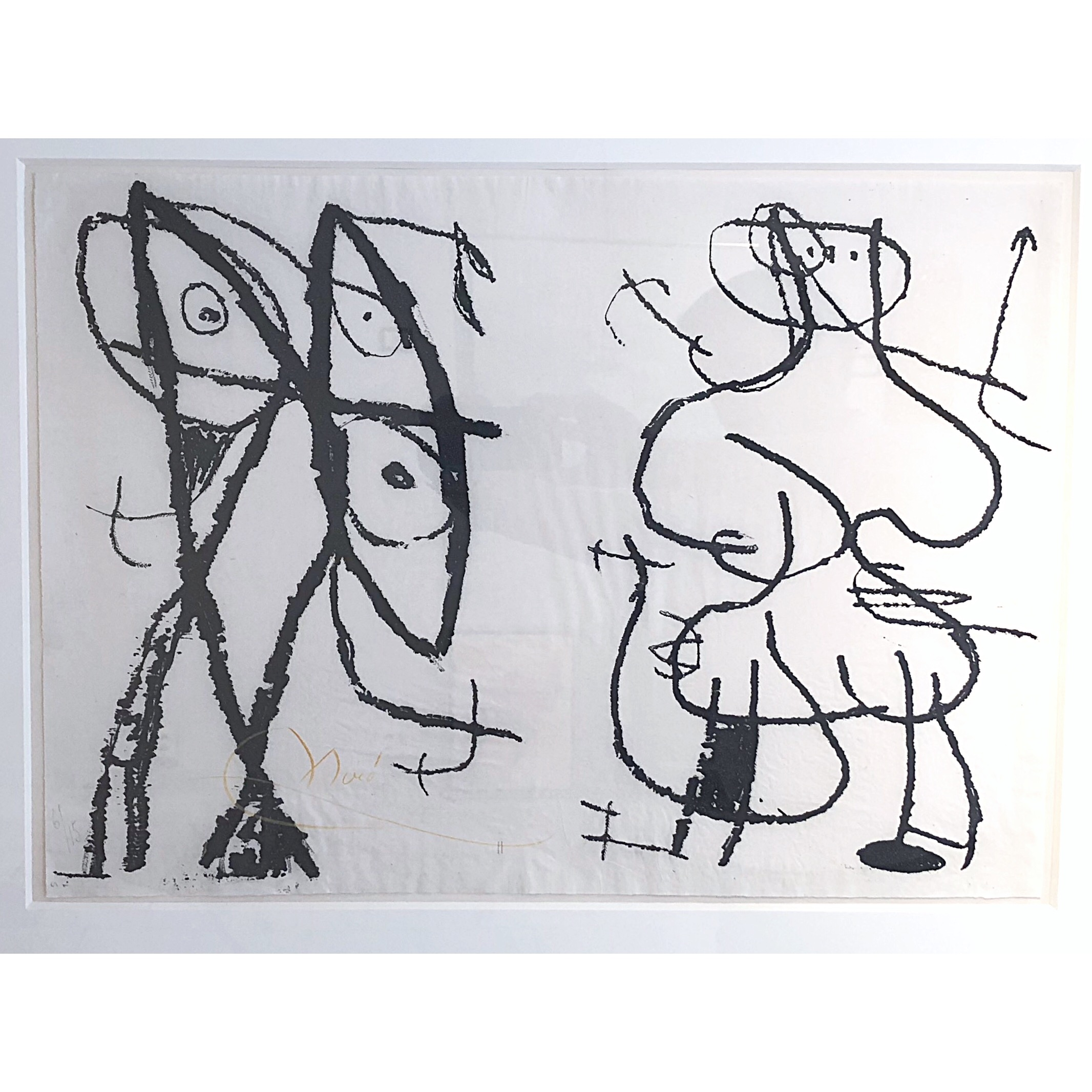 """Le Artisan Grotesque"" Etching by Joan Miró. 77x62 cm"