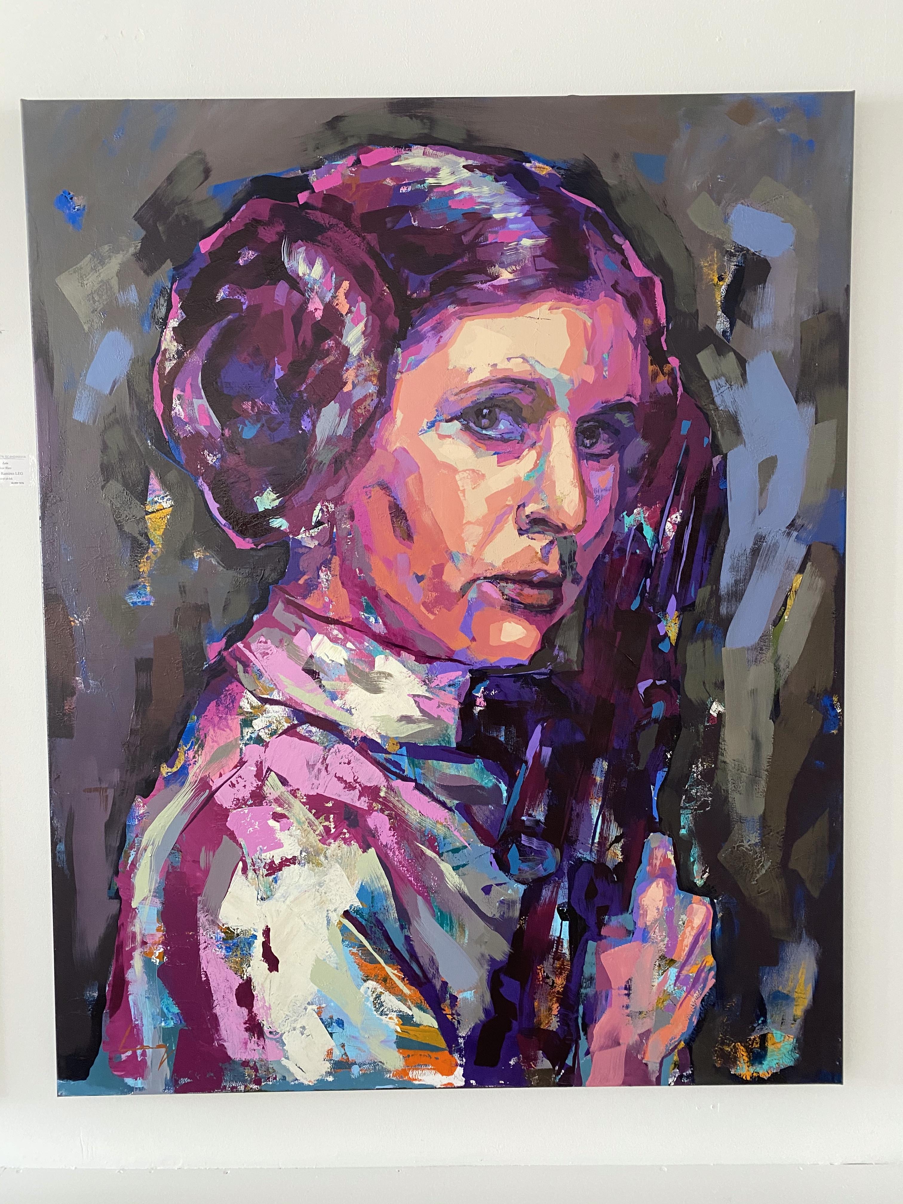 """Leia"" Akryl av Alberto Ramirez LEG. 160x130cm"