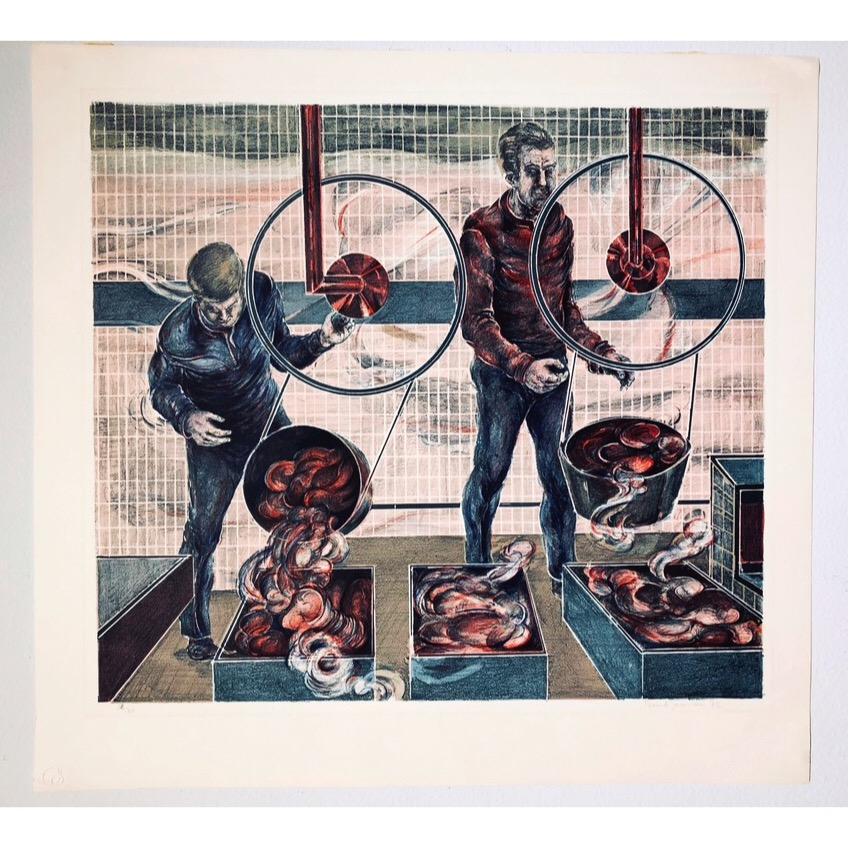 """No title"" Lithograph by Bernt Jonasson. 59 x 55,5 cm"