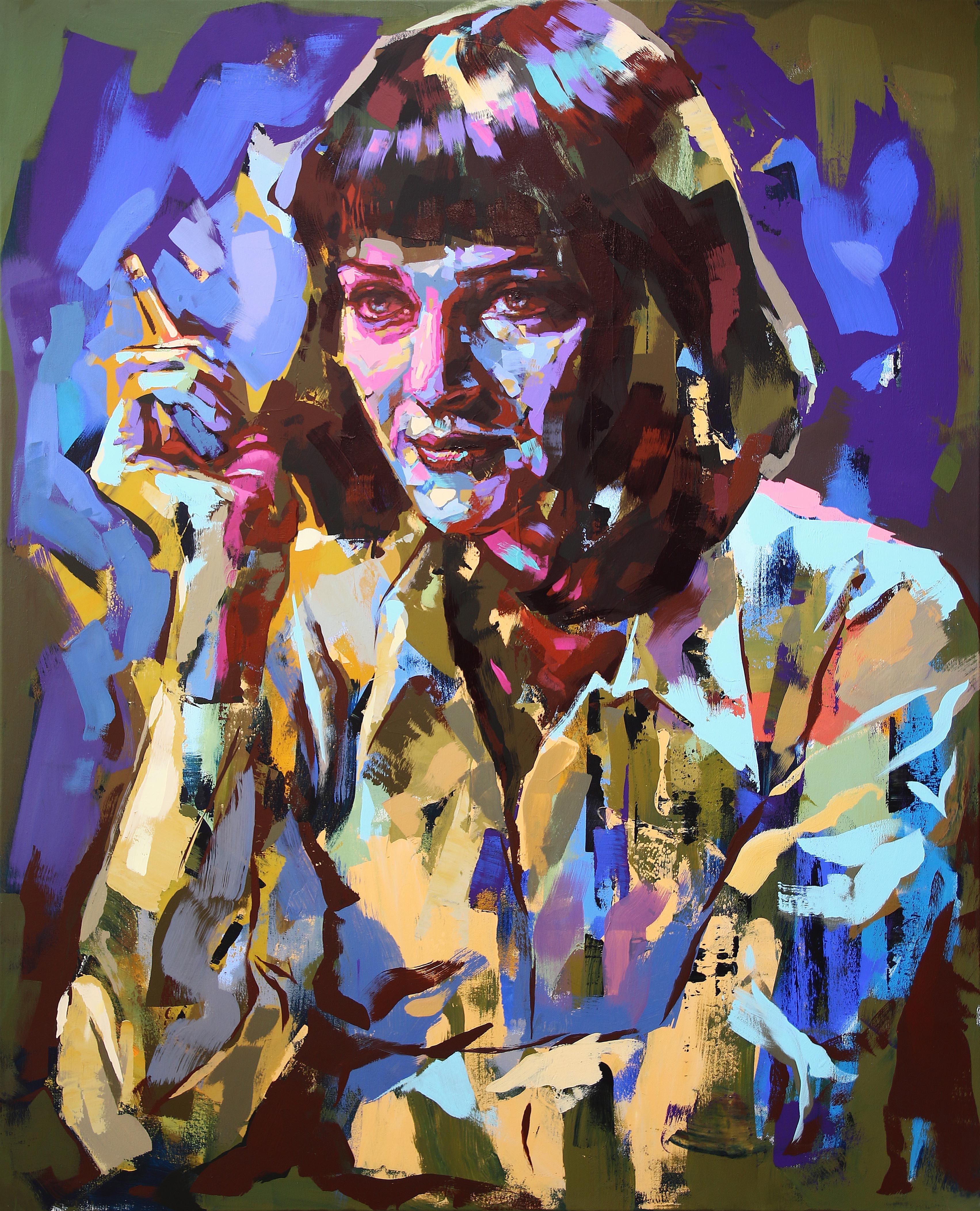 """""""Mia Wallace"""" Akryl av Alberto Ramirez LEG 160x130 cm"""