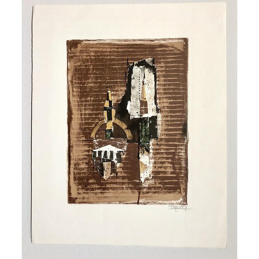 """No title"" Lithograph by Johnny Friendlaender. 45 x 56 cm"