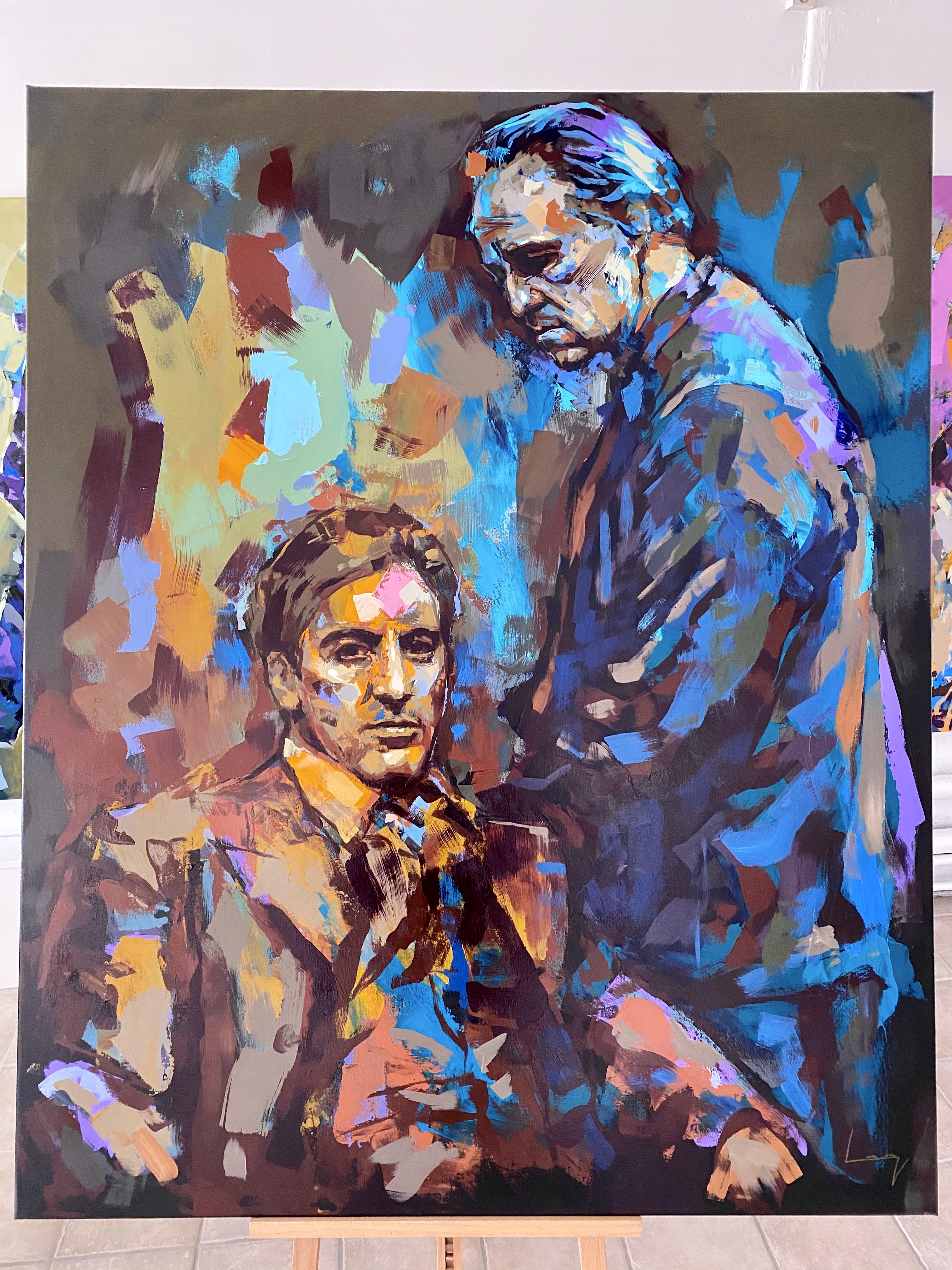 """""""The Corleone Family"""" Akryl av Alberto Ramirez LEG. 160x130 cm"""