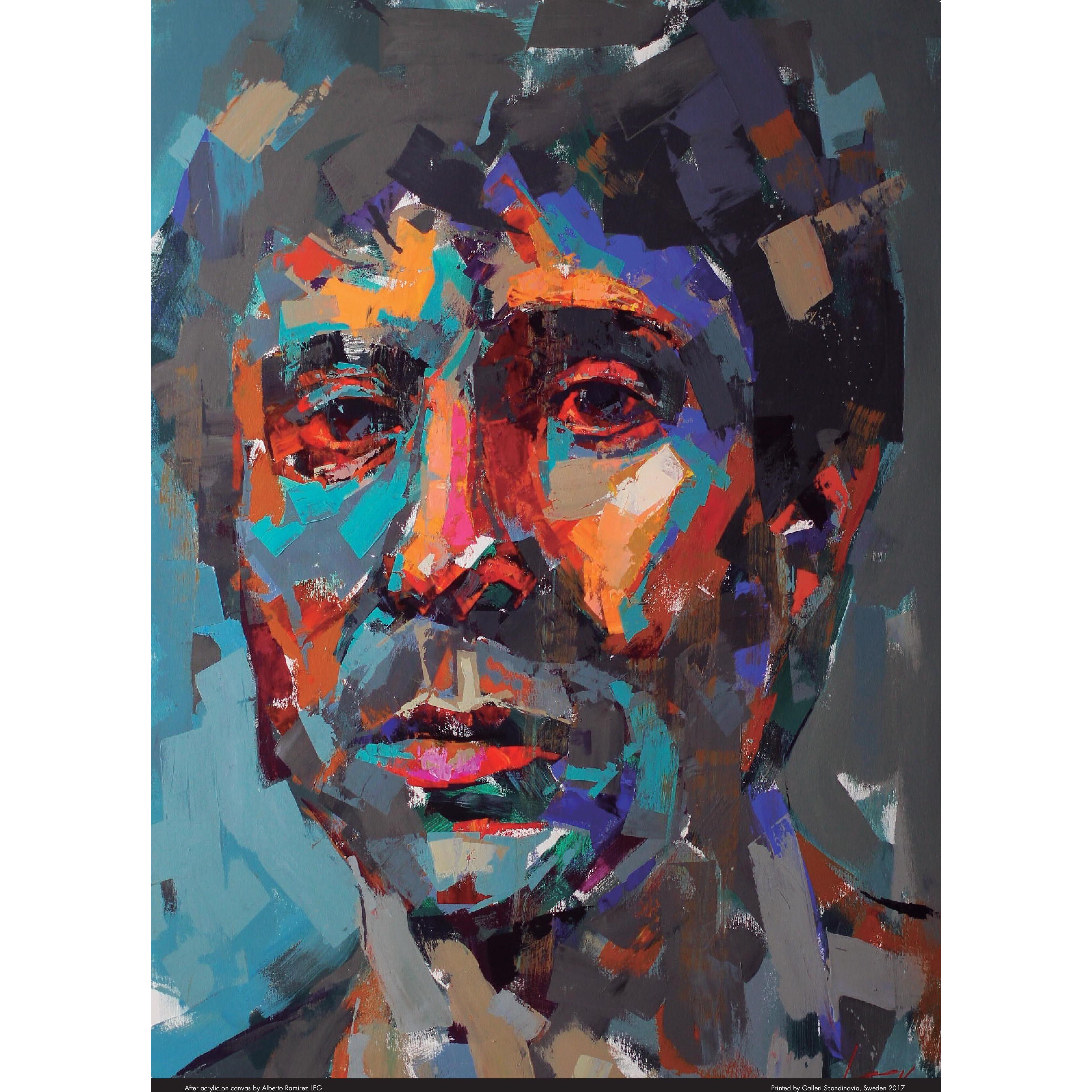 """Paul Simon"" - Limited Edition Poster by LEG. 50x70 cm"