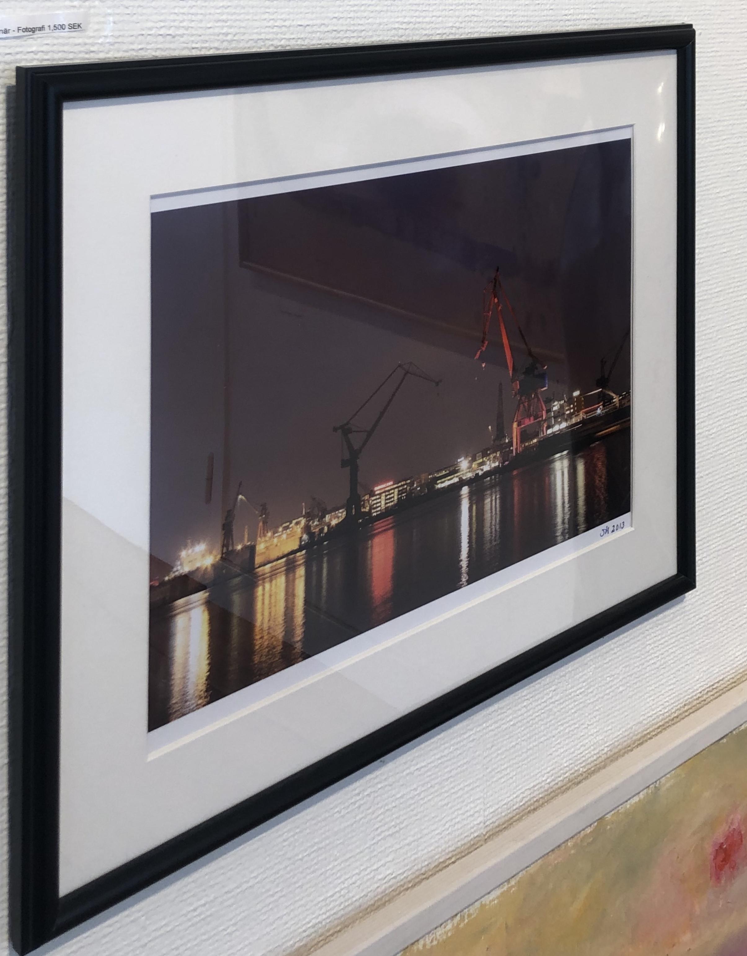 Foto över Eriksberg av okänd konstnär. 53x43 cm