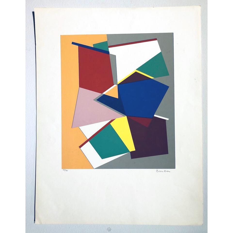 """No title"" Silkscreen by Cicero Dias. 49 x 64 cm"