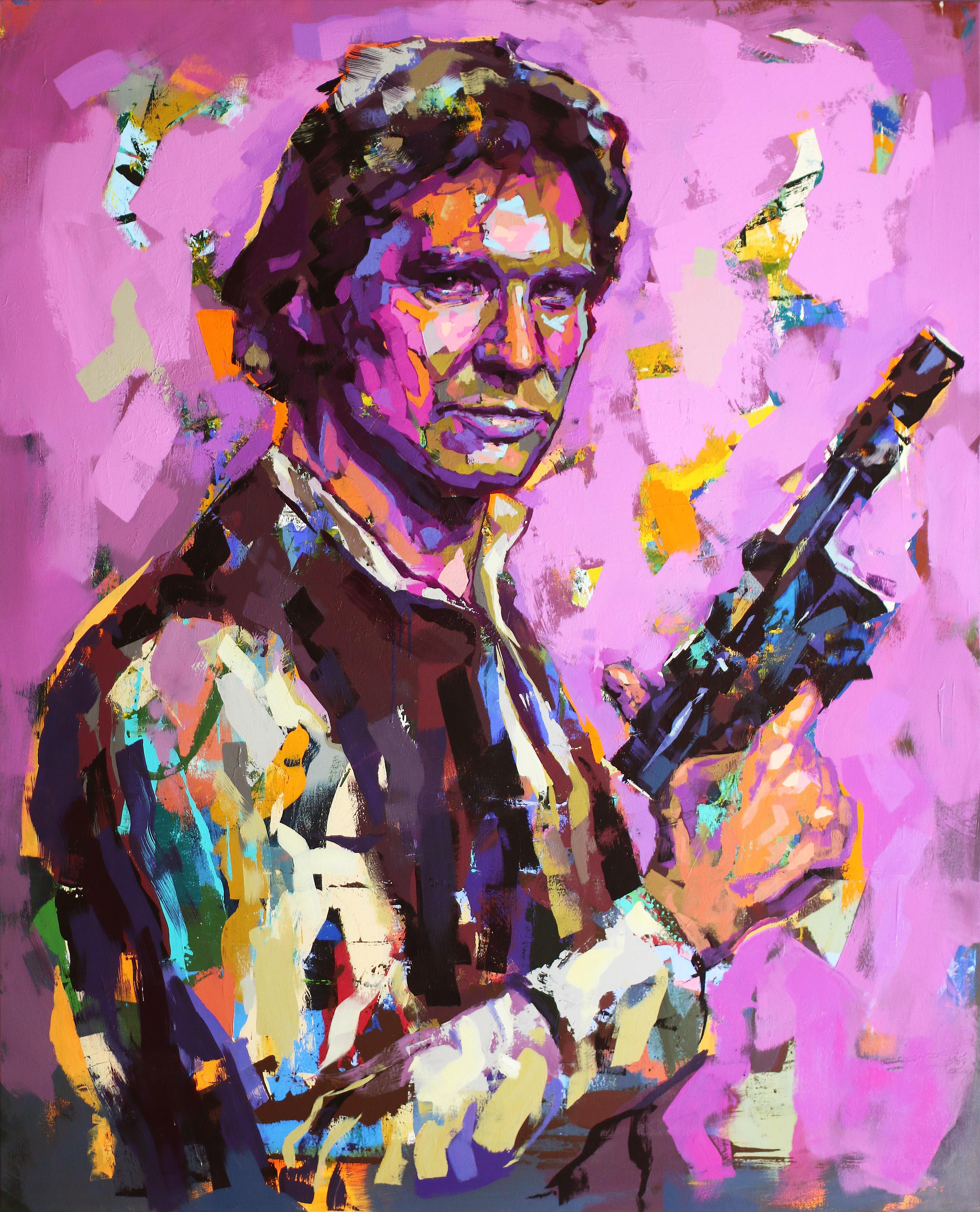 """Han Solo/Star Wars"" Akryl av Alberto Ramirez LEG. 160x130 cm"