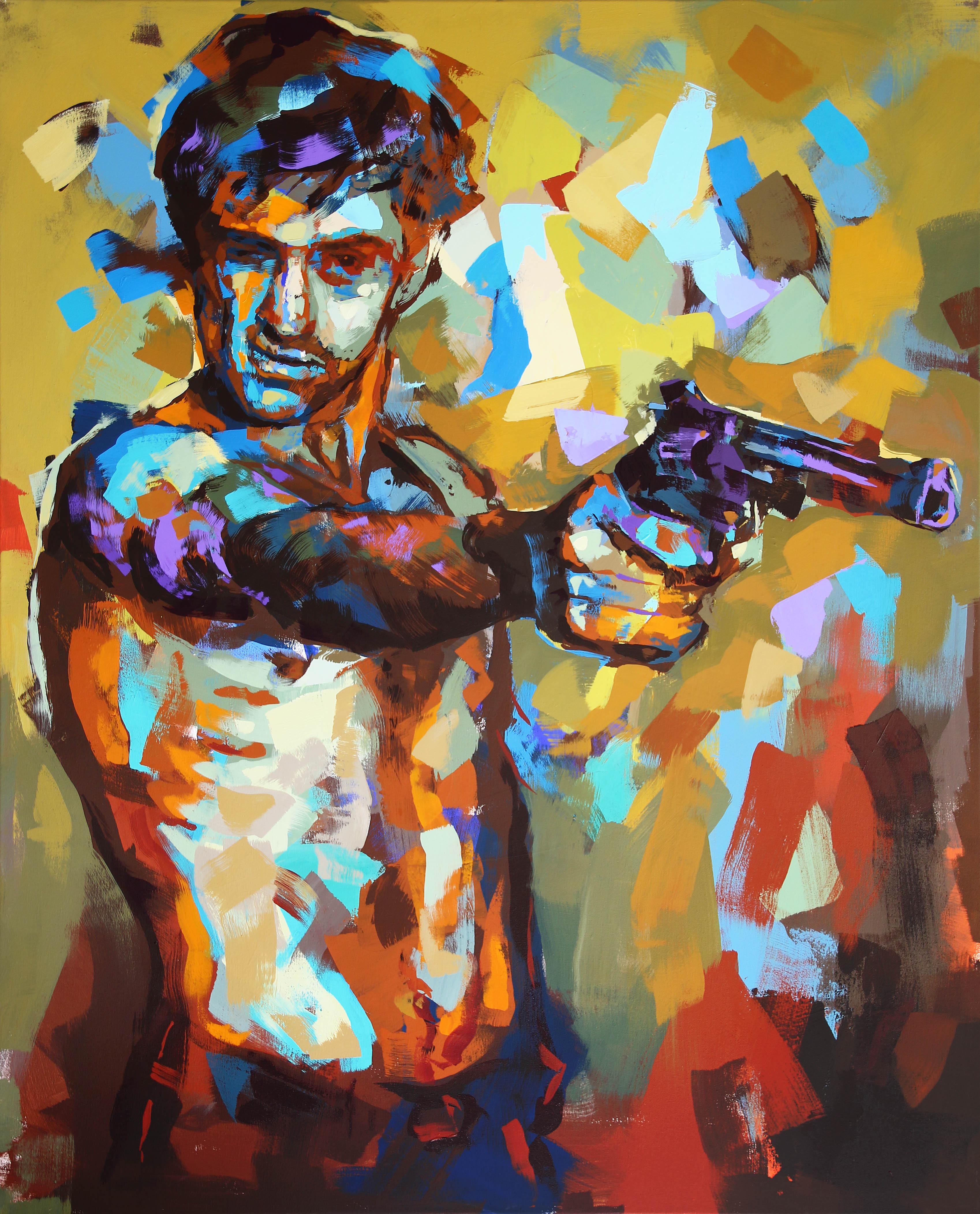 """Travis/Taxi Driver"" Akryl av Alberto Ramirez LEG. 160x130 cm"