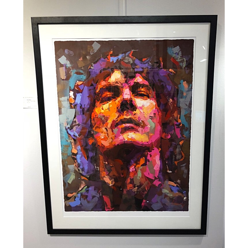 """Håkan Hellström"" - Art Giclée by Alberto Ramirez LEG. 100 x 125 cm."