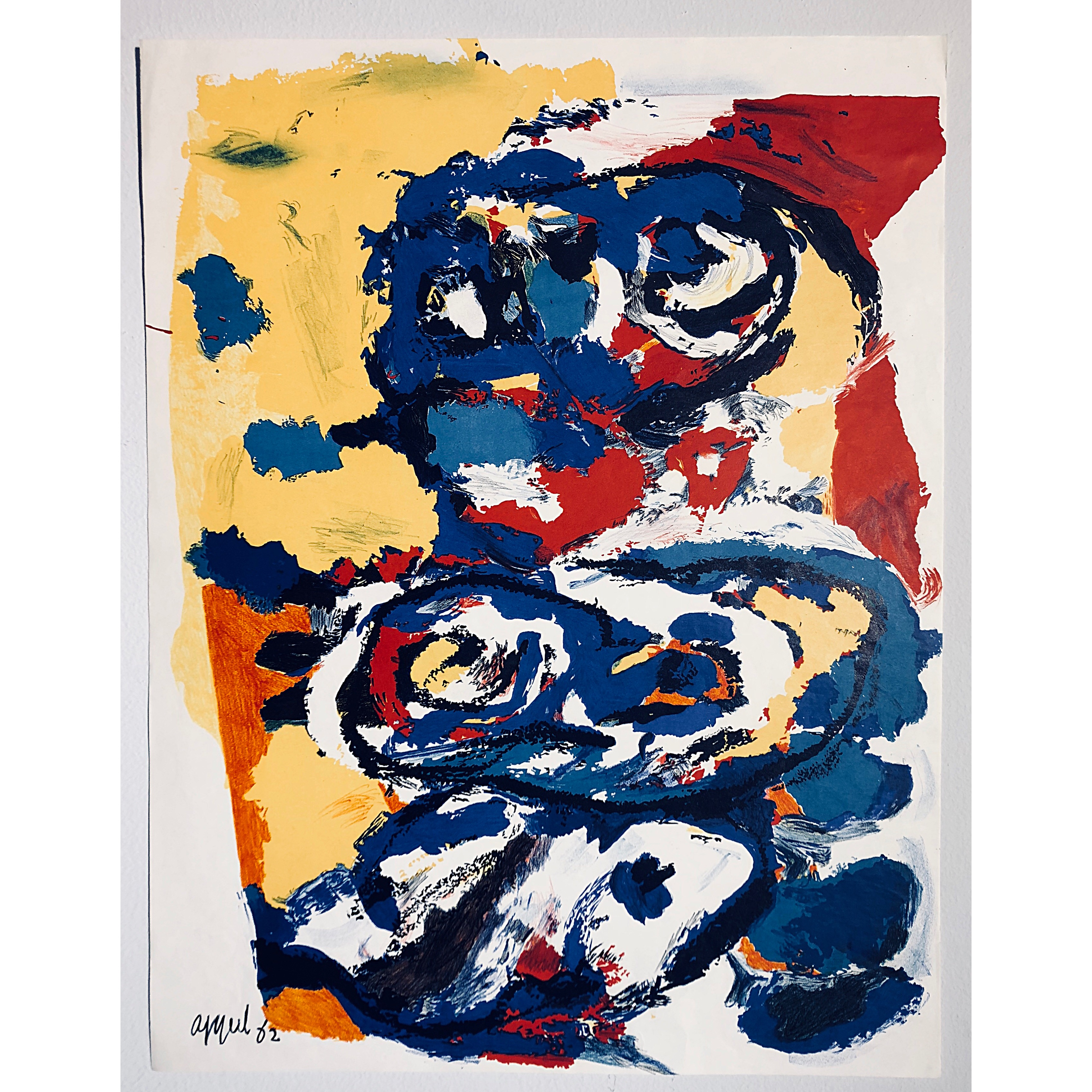"""No title"" Lithograph by Karel Appel. 50 x 64,5 cm"